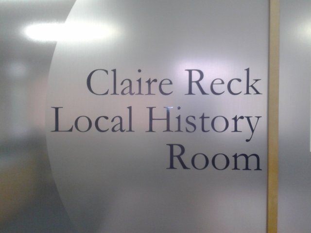 Claire Reck Local History Room