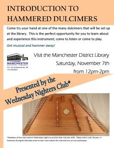 Introduction to Dulcimers November 2015
