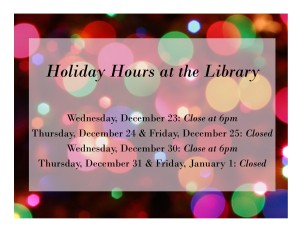 Winter Holiday Closings 2015