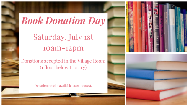 Friends Book Donation Day Flyer - July 1, 2017