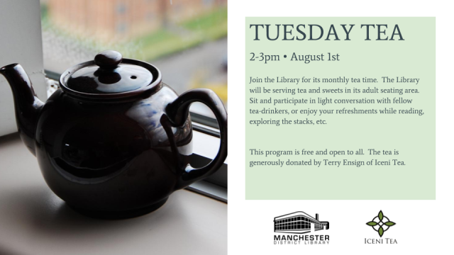 Tea Time Flyer - Monthly 1st Tuesday