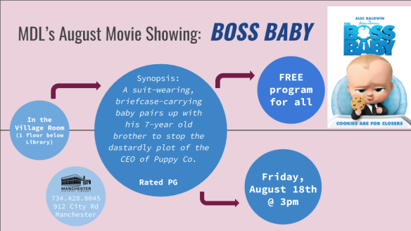 Free Movie Boss Baby Fri Aug 18 3pm Manchester