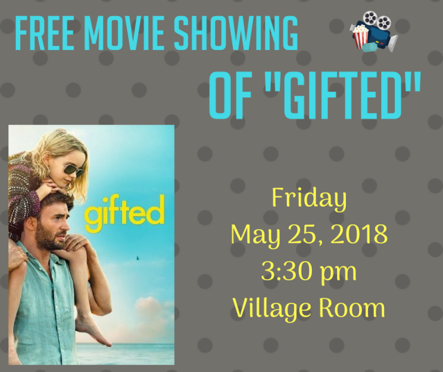 Free Movie Showing_ Gifted May 25, 2018.png